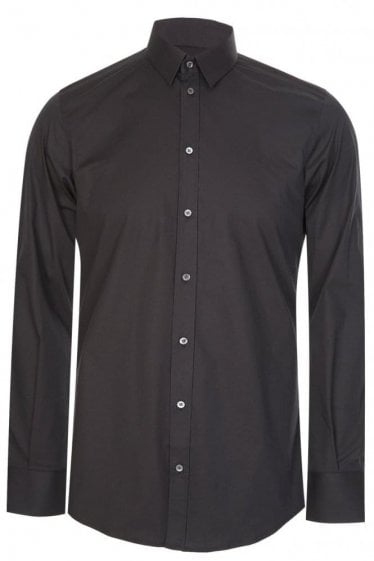 Dolce & Gabbana Classic Slim Stretch Shirt Black