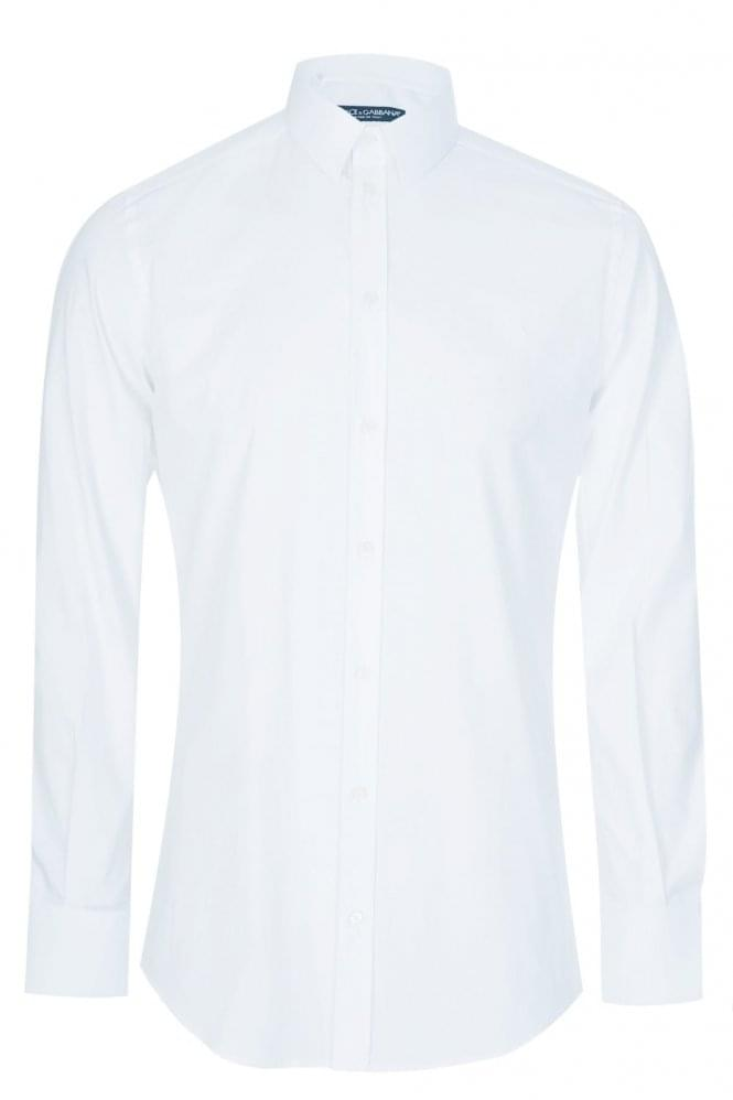 DOLCE & GABBANA Classic Slim Stretch Shirt White