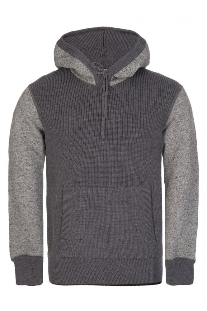 DOLCE & GABBANA Contrast Sleeve Hooded Top Grey