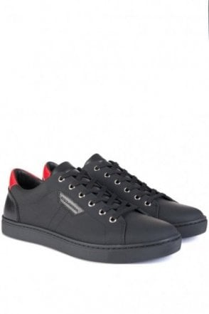 Dolce & Gabbana Contrasting Red Low Sneakers Black