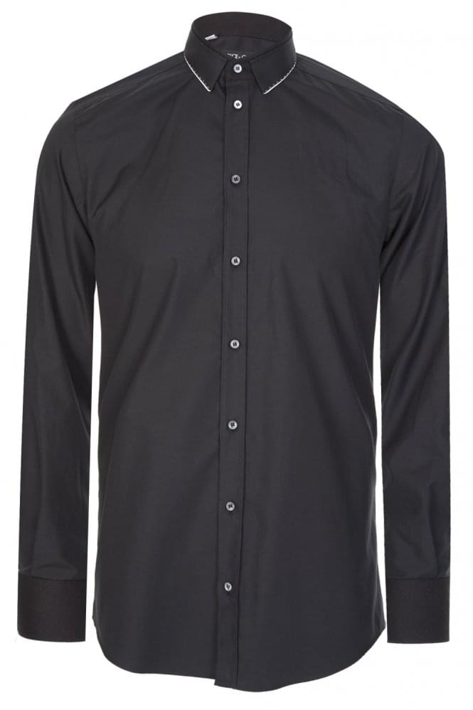 DOLCE & GABBANA Cotton Stretch Shirt Black