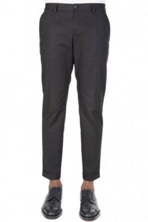 Dolce & Gabbana Cotton Stretch Trousers Black