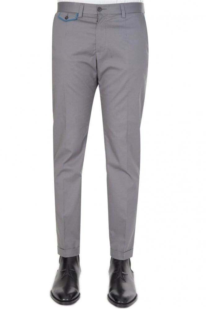 DOLCE & GABBANA Cotton Stretch Trousers Grey