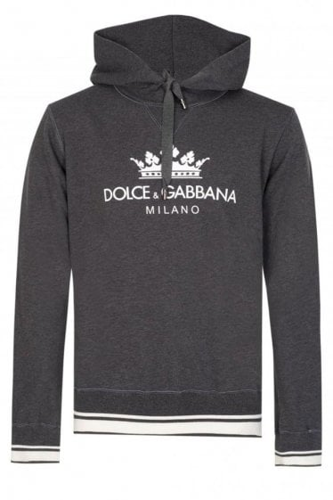 DOLCE & GABBANA CROWN HOODED SWEATSHIRT