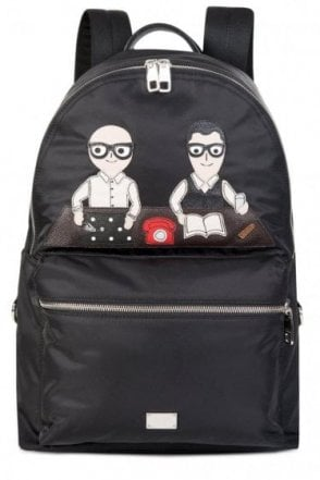 Dolce & Gabbana Designers Applique Backpack Black