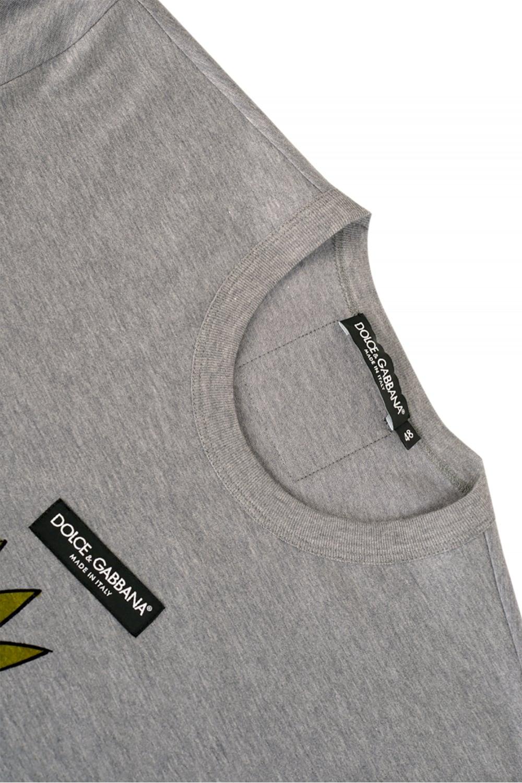 6121ee34590b13 Dolce   Gabbana Dog Print Tshirt