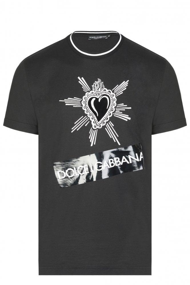 Dolce & Gabbana Embroidered Tape Logo T-shirt