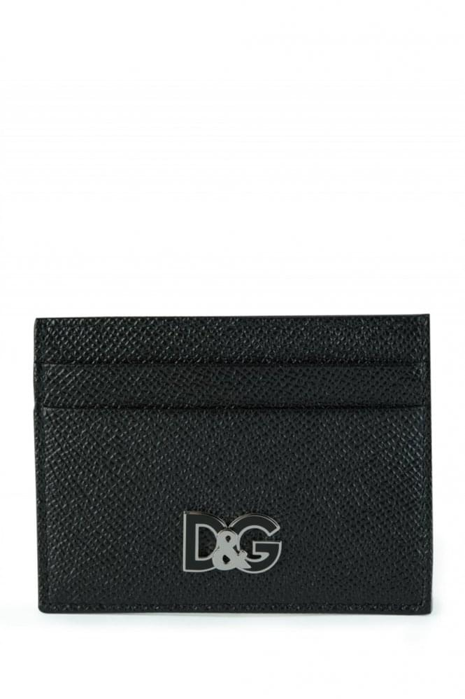DOLCE & GABBANA Leather Card Holder Black