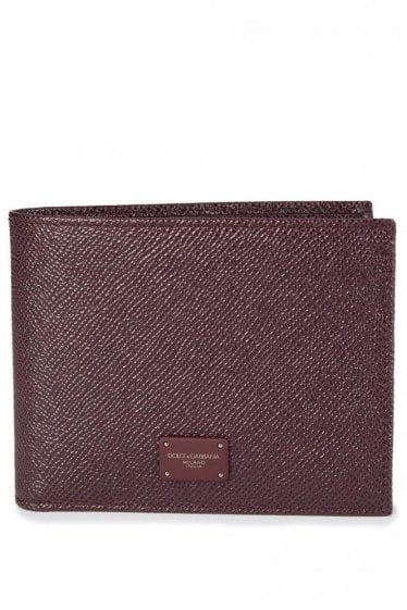 Dolce & Gabbana Leather Wallet Burgundy