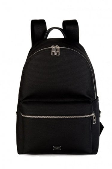 Dolce & Gabbana Logo Plaque Backpack Black