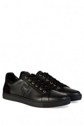Dolce & Gabbana Logo Plaque Low Sneakers Black