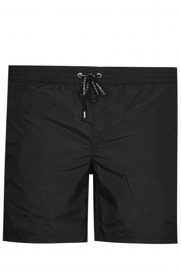 Dolce & Gabbana Logo Swim Shorts Black