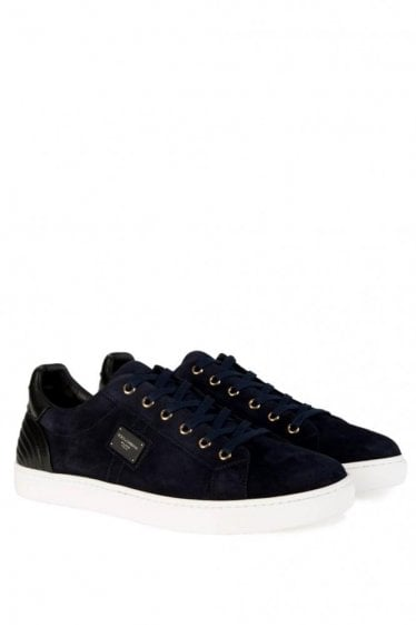 Dolce & Gabbana Low Suede Sneakers Navy