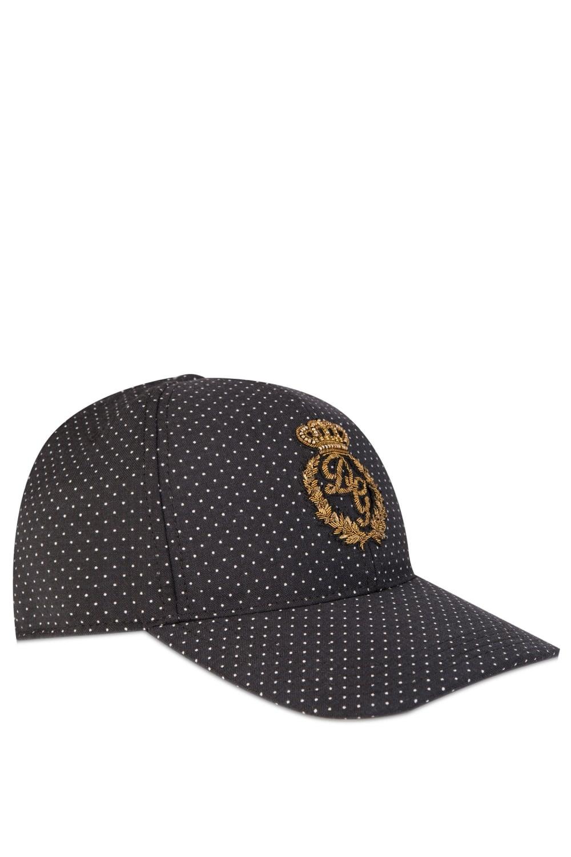 Dolce Amp Gabbana Metallic Logo Cap Black