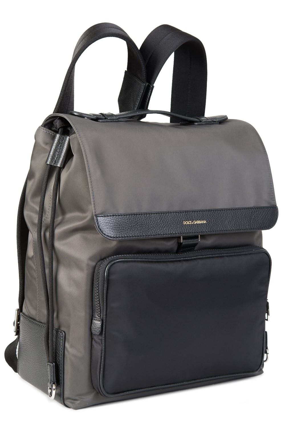 5f4315fe11 Dolce   Gabbana Mixed Material Backpack Grey