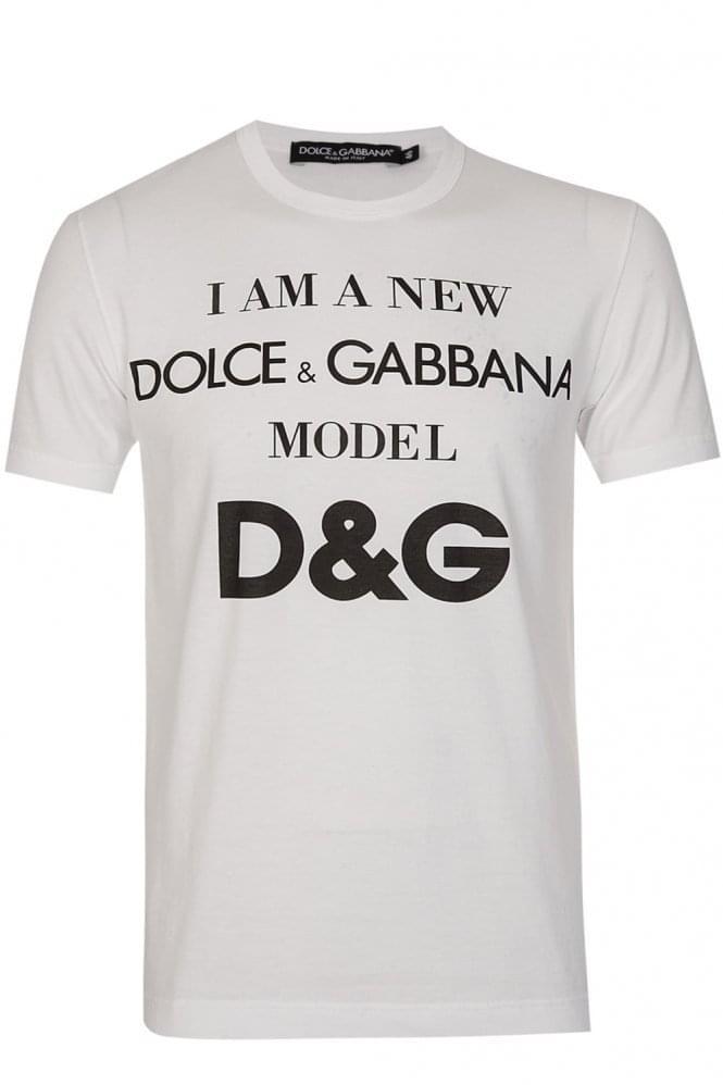 Dolce & Gabbana Model Tshirt White