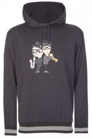 Dolce & Gabbana Musical Applique Hooded Sweatshirt Black