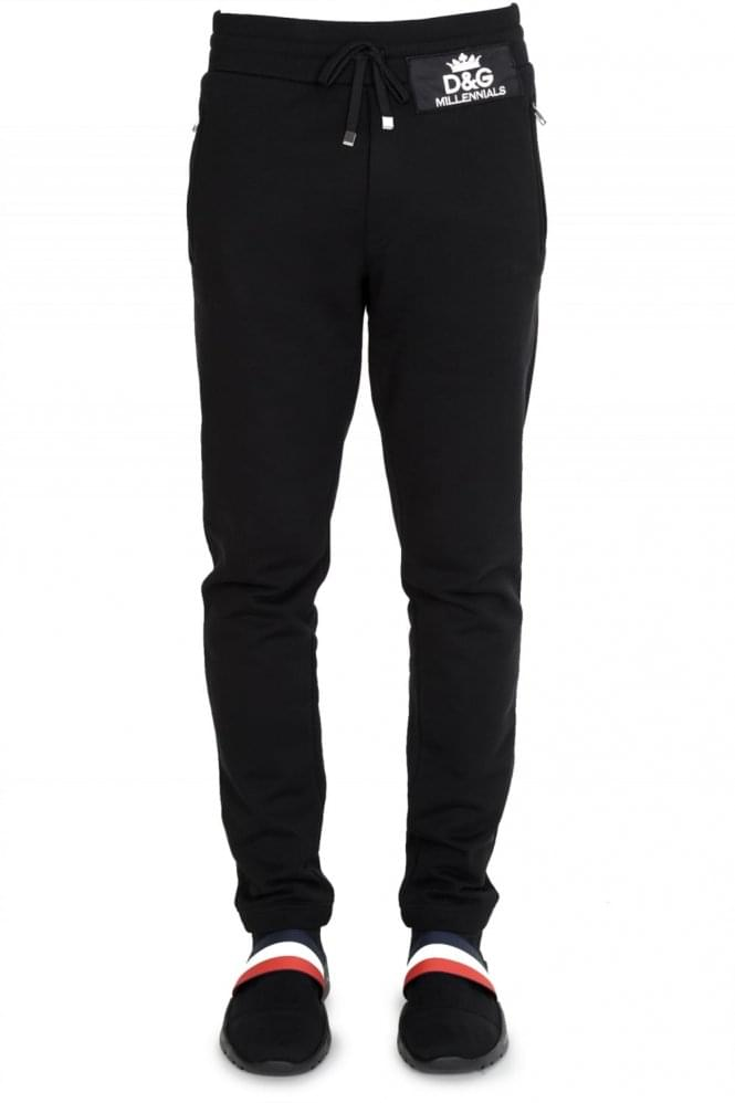 DOLCE & GABBANA Patch Logo Joggers Black