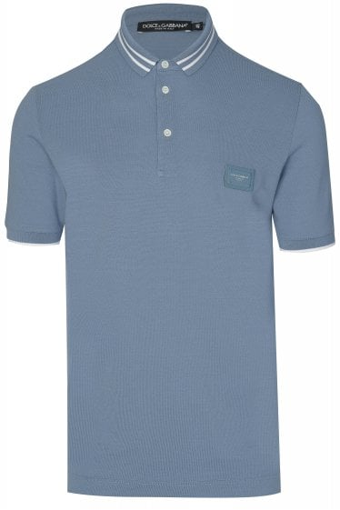 Dolce & Gabbana Plaque Logo Polo Shirt