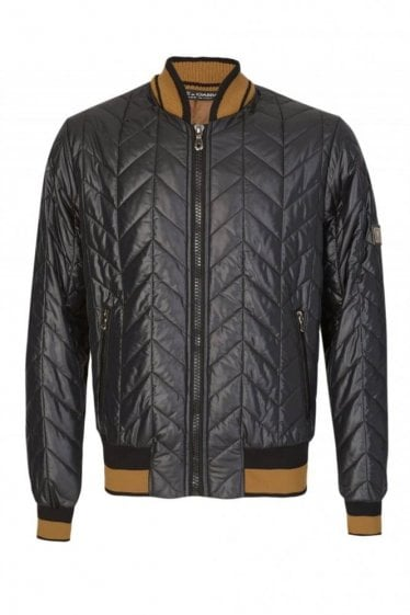 Dolce & Gabbana Quilted Bomber Jacket Black