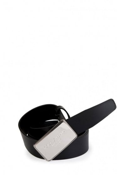 Dolce & Gabbana Rectangular Buckle Belt Black