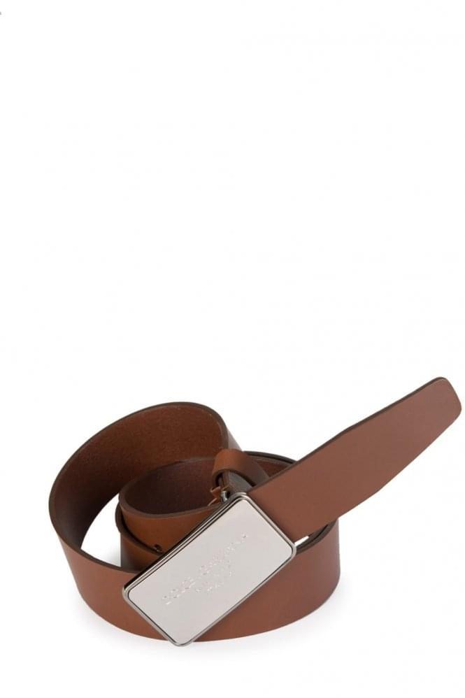 DOLCE & GABBANA Rectangular Buckle Belt Brown