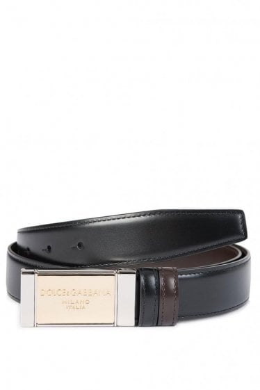Dolce & Gabbana Reverse Belt Black/Brown