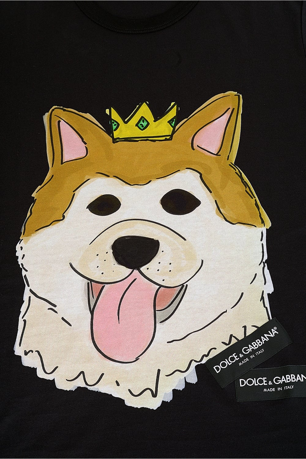 bc84f379 DOLCE & GABBANA Royal Dog Print Tee - Clothing from Circle Fashion UK