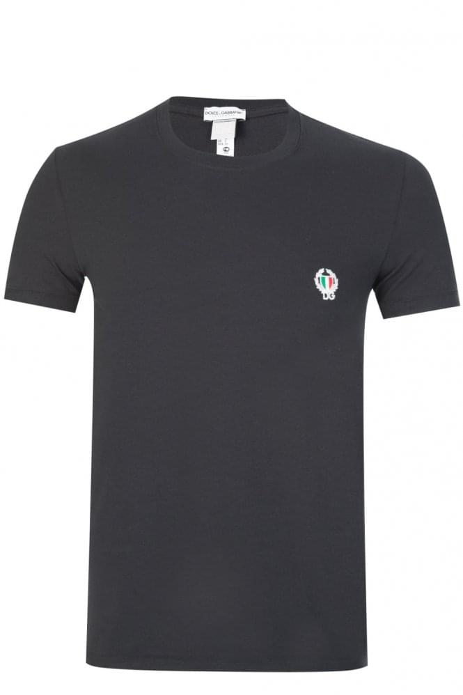 DOLCE & GABBANA Shield Logo T-Shirt Black