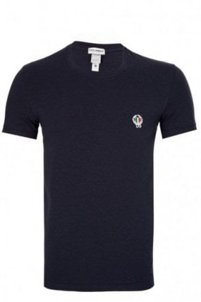 Dolce & Gabbana Shield Logo T-Shirt Navy