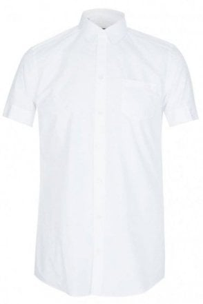 Dolce & Gabbana Tailored Fit Cotton Shirt White