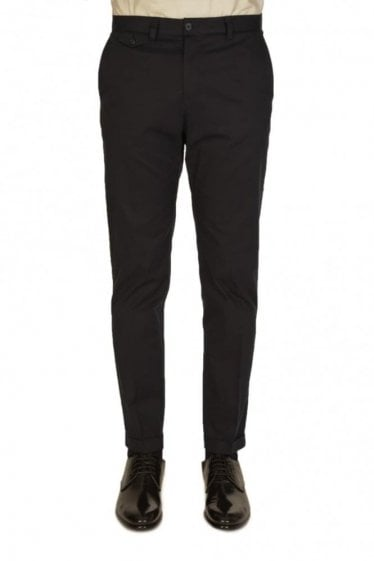Dolce & Gabbana Tapered Cotton Trousers Navy