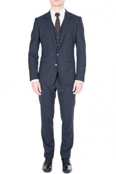 Dolce & Gabbana Three Piece Martini Suit Navy