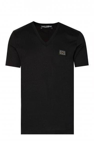 f51a6624d93c Dolce   Gabbana V-neck Plaque T-shirt