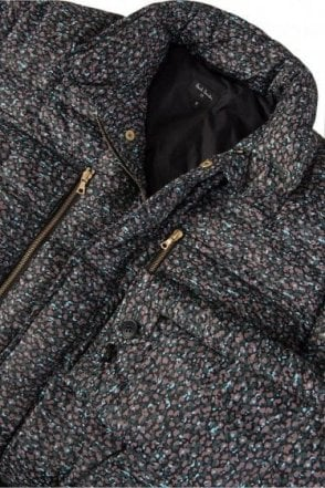 Paul Smith Navy Stippled Colour Print Field Jacket
