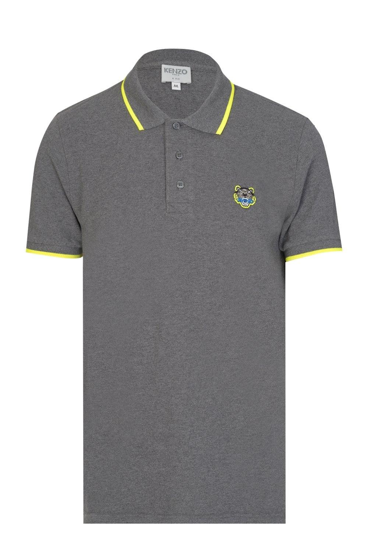6f81eab21 KENZO 'Dragon' Tiger Logo Polo Shirt Grey - Clothing from Circle Fashion UK