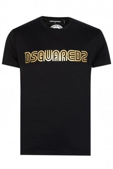 Dsqaured Chest Logo T-shirt Black