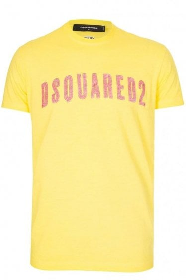 Dsqaured Long Cool Fit T-Shirt Yellow