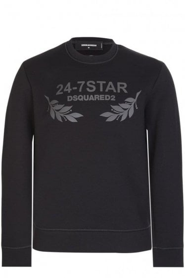 Dsquared 24-7 Star Sweatshirt Black