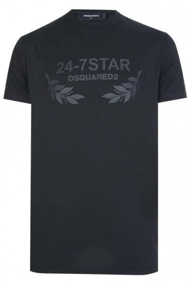 Dsquared 24-7 Star Tee Black