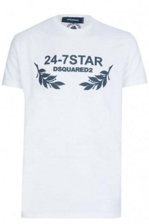 Dsquared 24-7 Star Tee White