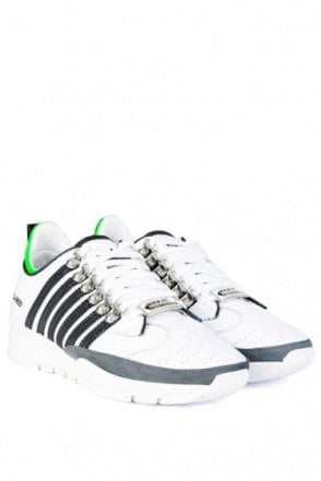 Dsquared 5 Stripe Sneakers White