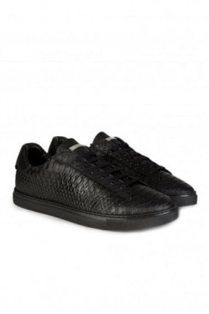 Dsquared All Black Low Textured Sneakers