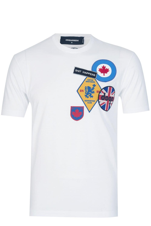 Dsquared2 Badges T White Dsquared Shirt 354qjLAR