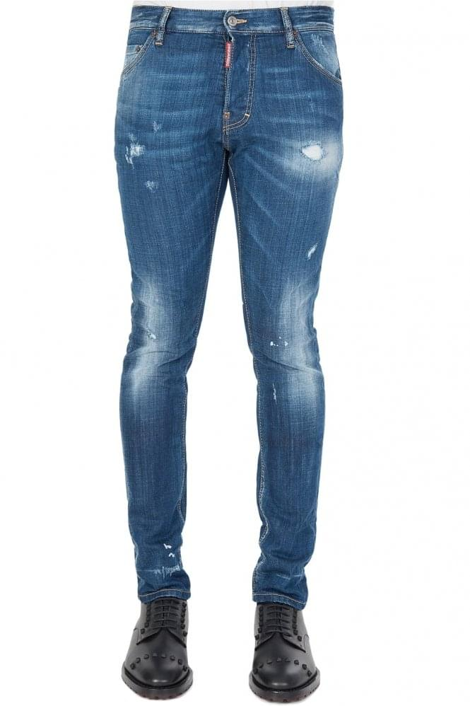 Short Sleeve Dsquared BB2 Wash Cool Guy Jeans Blue