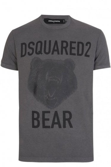 Dsquared Bear Tee Grey