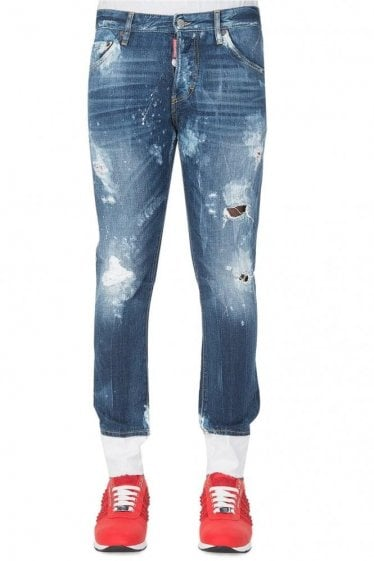 Dsquared Bleached Skinny Dan Jeans