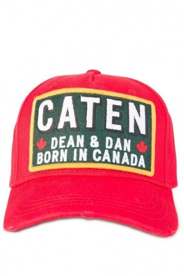 Dsquared Born In Canada Baseball Cap Red