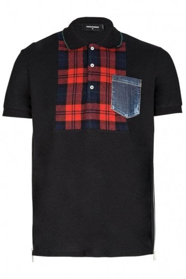 Dsquared Boxy Fit Pocket Polo Black