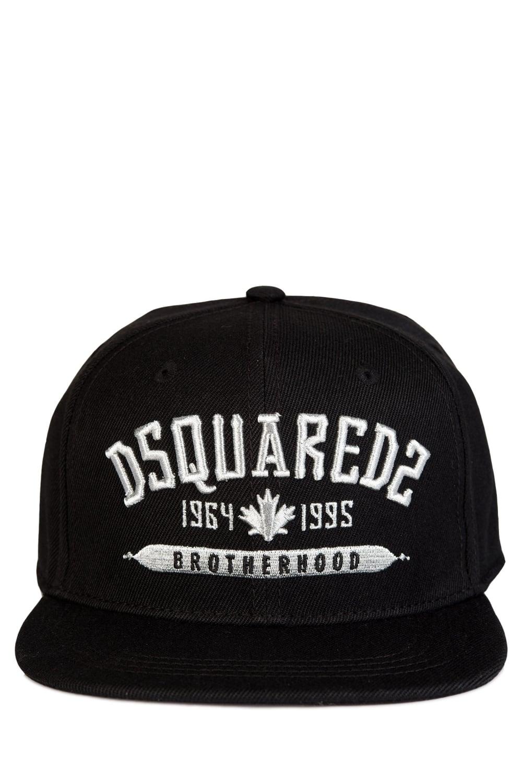 163f727ac88 Dsquared Brotherhood Embroidered Black Baseball Cap